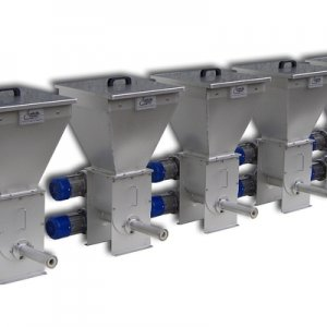Batching units for all types of powders, particularly suitable for non-free flowing products.