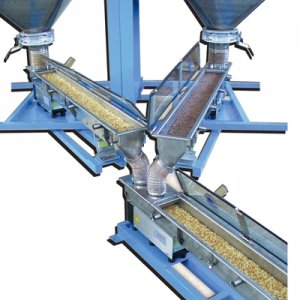 Ideal for feeding and dosing fragile products such as oatmeal, chips, oven-popped rice, etc.